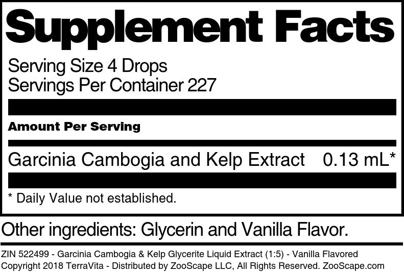 Garcinia Cambogia & Kelp Glycerite Liquid Extract (1:5)