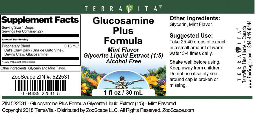 Glucosamine Plus Formula Glycerite Liquid Extract (1:5)