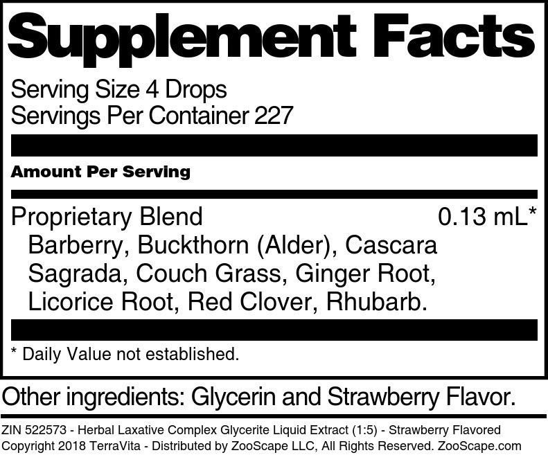 Herbal Laxative Complex Glycerite Liquid Extract (1:5)