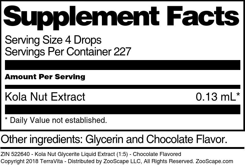 Kola Nut Glycerite Liquid Extract (1:5)