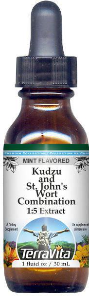Kudzu and St. John's Wort Combination Glycerite Liquid Extract (1:5) - Mint Flavored