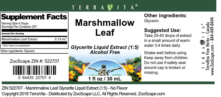 Marshmallow Leaf Glycerite Liquid Extract (1:5)