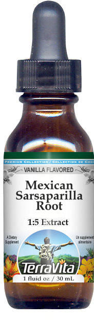 Mexican Sarsaparilla Root Glycerite Liquid Extract (1:5) - Vanilla Flavored