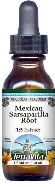Mexican Sarsaparilla Root Glycerite Liquid Extract (1:5) - Chocolate Flavored