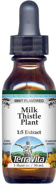 Milk Thistle Plant Glycerite Liquid Extract (1:5) - Mint Flavored