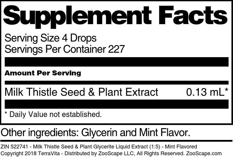 Milk Thistle Seed & Plant Glycerite Liquid Extract (1:5)