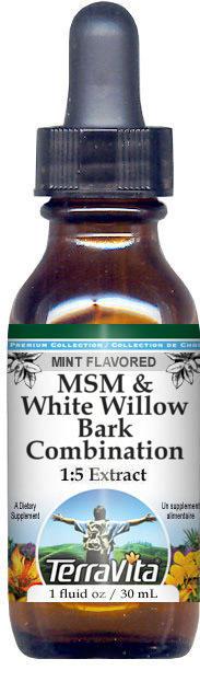 MSM & White Willow Bark Combination Glycerite Liquid Extract (1:5)