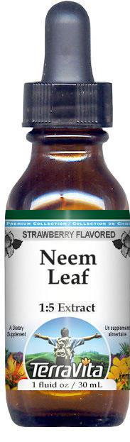 Neem Leaf Glycerite Liquid Extract (1:5) - Strawberry Flavored