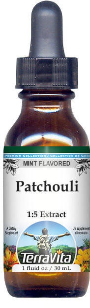 Patchouli Glycerite Liquid Extract (1:5) - Mint Flavored