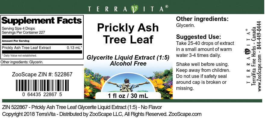 Prickly Ash Tree Leaf
