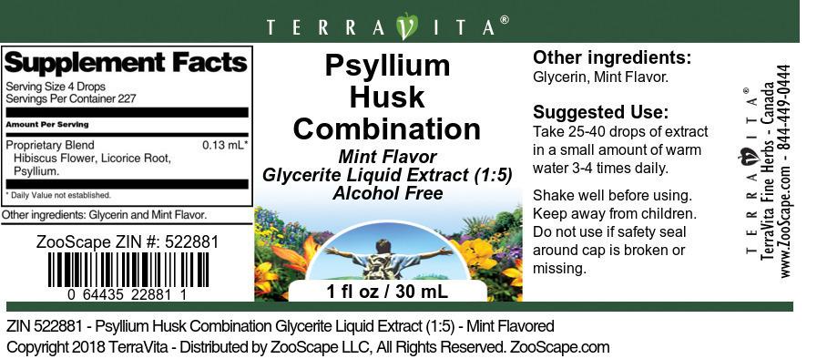Psyllium Husk Combination Glycerite Liquid Extract (1:5)