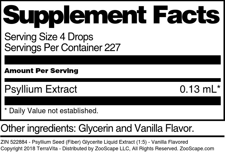 Psyllium Seed (Fiber) Glycerite Liquid Extract (1:5)