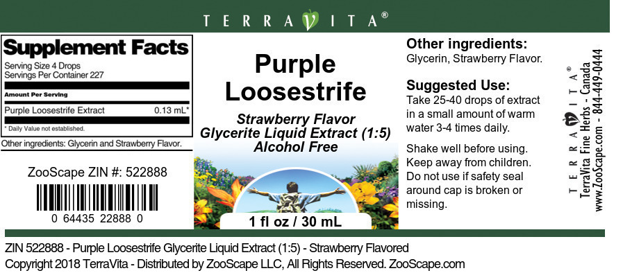 Purple Loosestrife Glycerite Liquid Extract (1:5)