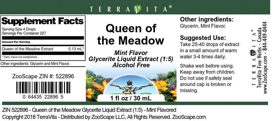 Queen of the Meadow Glycerite Liquid Extract (1:5)