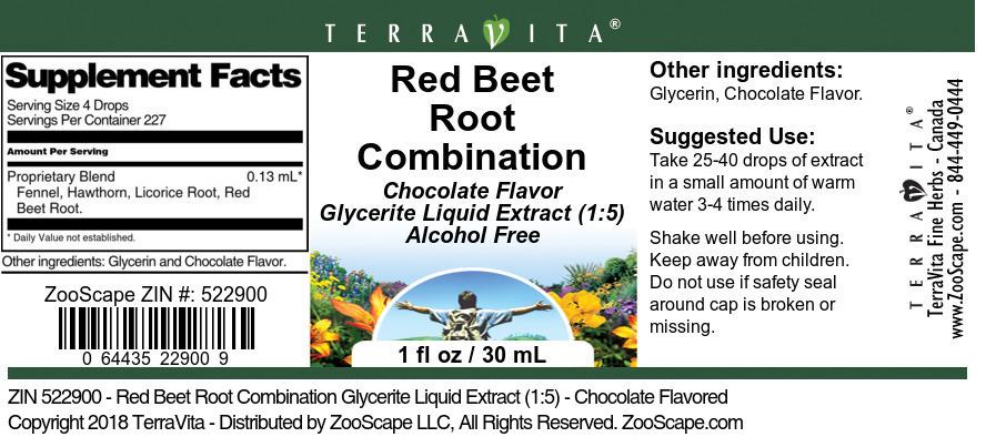 Red Beet Root Combination Glycerite Liquid Extract (1:5)