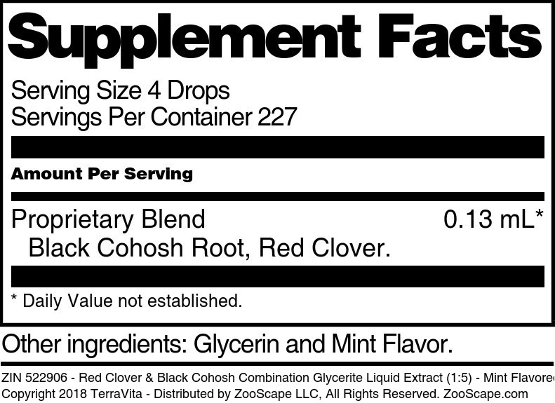 Red Clover and Black Cohosh