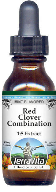 Red Clover Combination Glycerite Liquid Extract (1:5) - Mint Flavored
