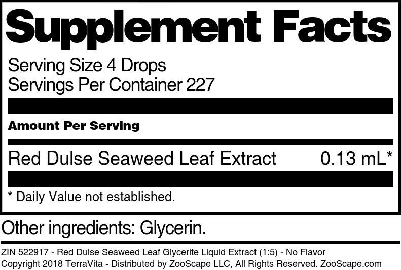 Red Dulse Seaweed Leaf