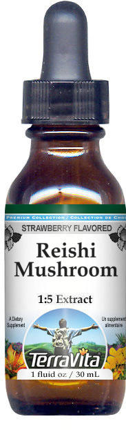 Reishi Mushroom Glycerite Liquid Extract (1:5) - Strawberry Flavored