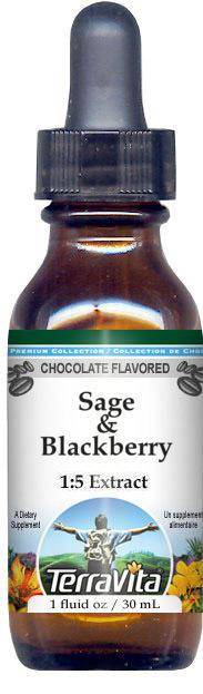 Sage & Blackberry Glycerite Liquid Extract (1:5)
