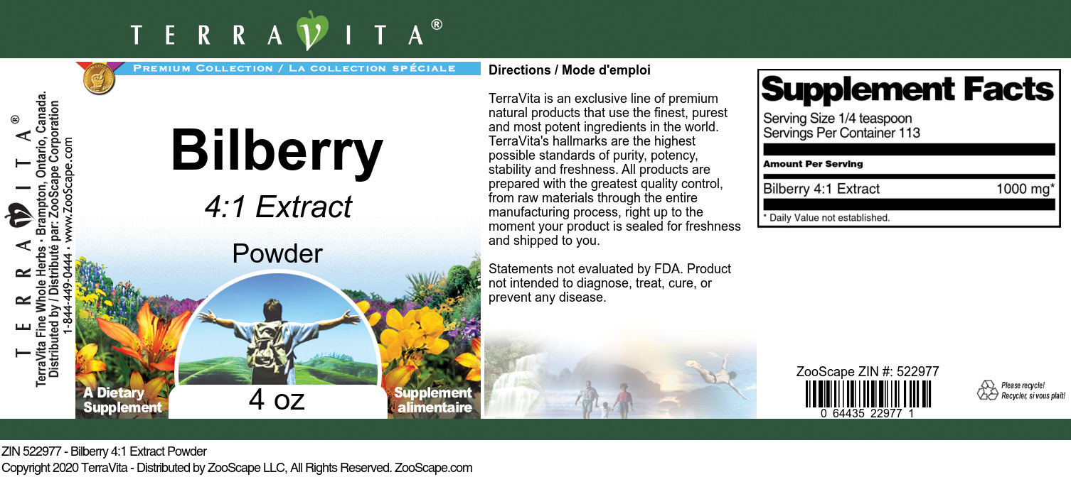 Bilberry 4:1 Extract Powder