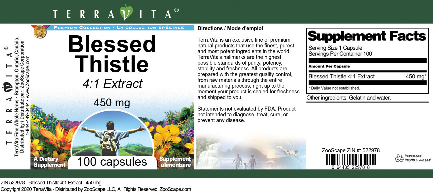 Blessed Thistle 4:1 Extract - 450 mg