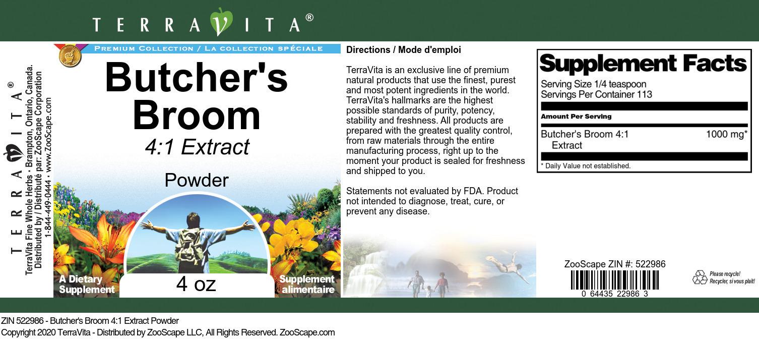 Butcher's Broom 4:1 Extract Powder