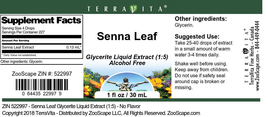 Senna Leaf Glycerite Liquid Extract (1:5)
