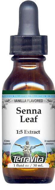 Senna Leaf Glycerite Liquid Extract (1:5) - Vanilla Flavored