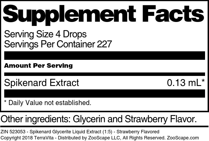 Spikenard Glycerite Liquid Extract (1:5)
