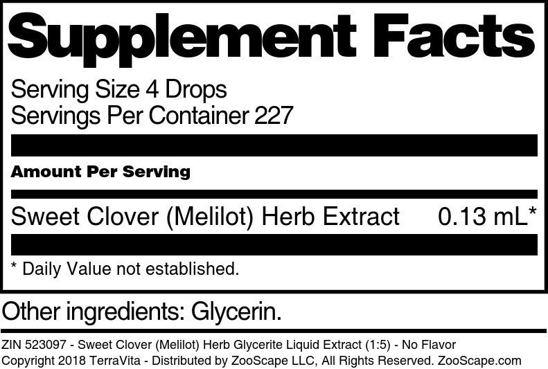 Sweet Clover <BR>(Melilot) Herb