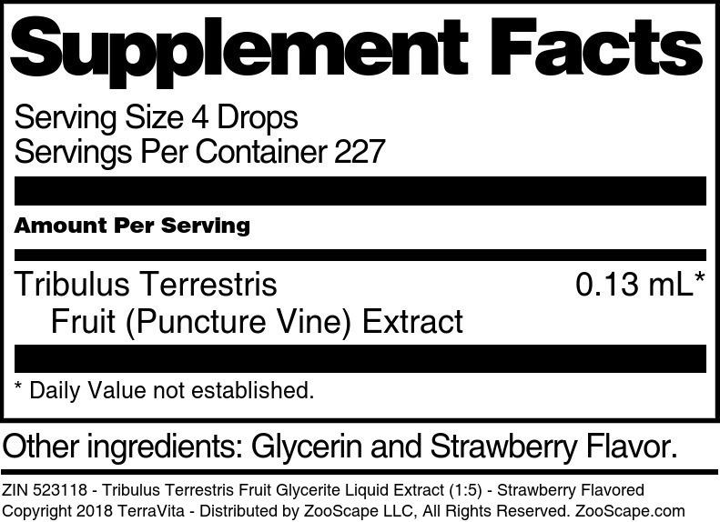Tribulus Terrestris Fruit Glycerite Liquid Extract (1:5)