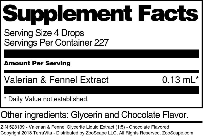 Valerian & Fennel Glycerite Liquid Extract (1:5)
