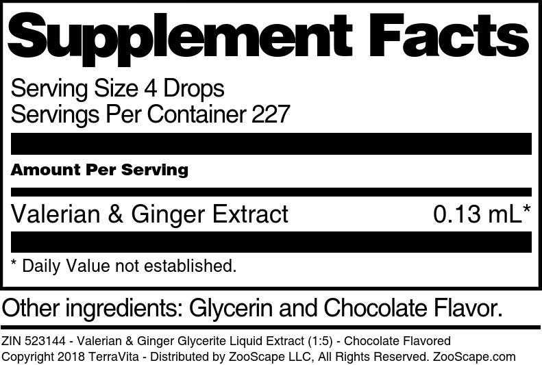Valerian & Ginger Glycerite Liquid Extract (1:5)