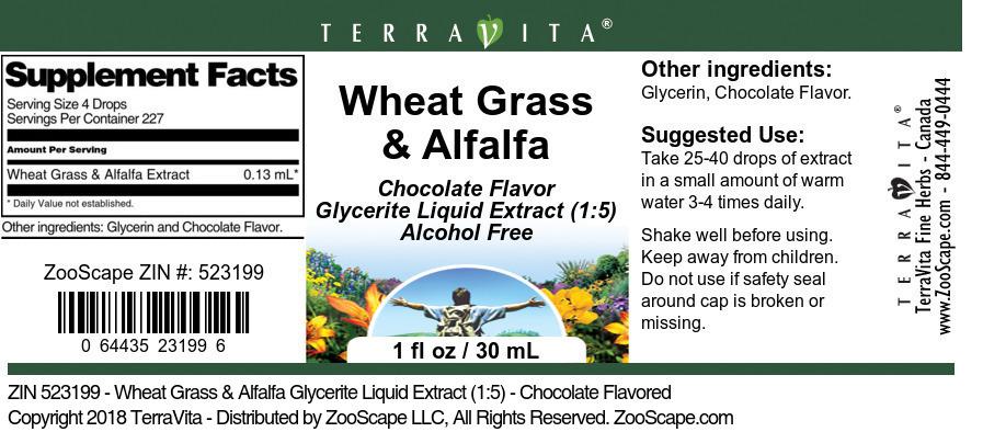 Wheat Grass & Alfalfa Glycerite Liquid Extract (1:5)
