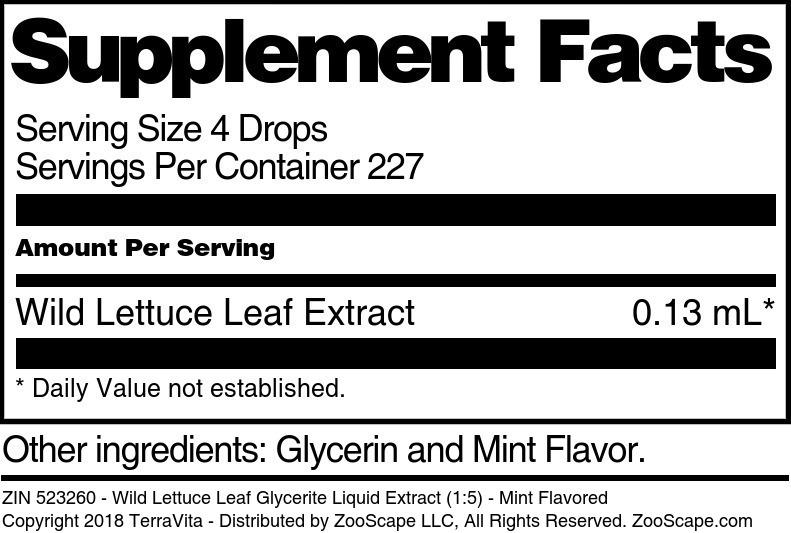Wild Lettuce Leaf