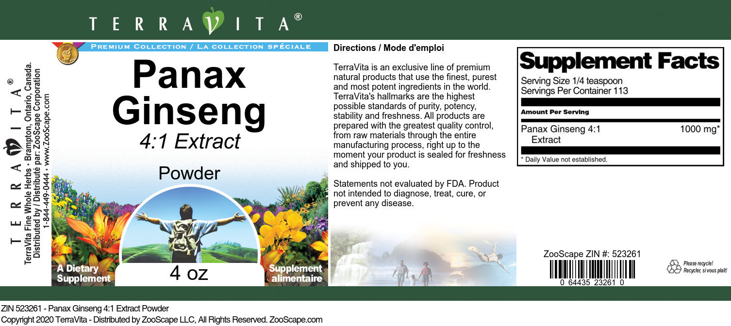 Panax Ginseng 4:1 Extract
