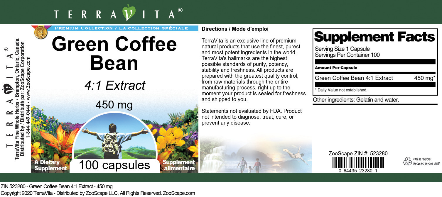 Green Coffee Bean 4:1 Extract - 450 mg