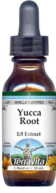 Yucca Root Glycerite Liquid Extract (1:5) - Vanilla Flavored