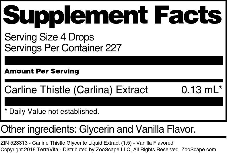 Carline Thistle Glycerite Liquid Extract (1:5)