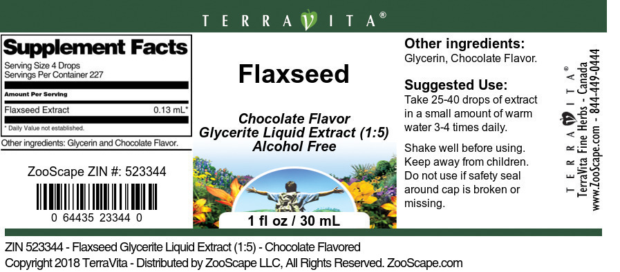 Flaxseed Glycerite Liquid Extract (1:5)