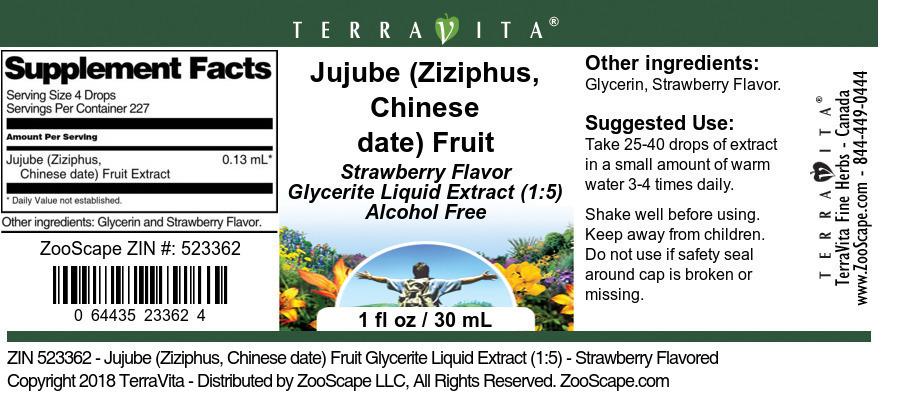 Jujube (Ziziphus, Chinese date) Fruit Glycerite Liquid Extract (1:5)