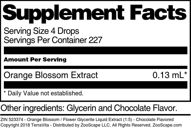 Orange Blossom Glycerite Liquid Extract (1:5)