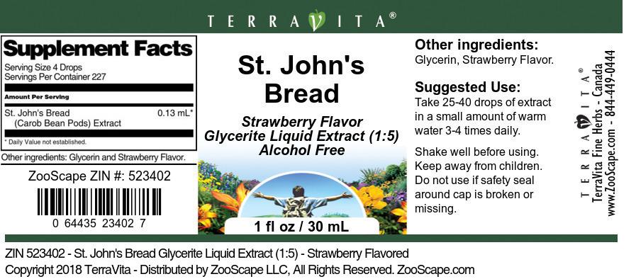 St. John's Bread Glycerite Liquid Extract (1:5)