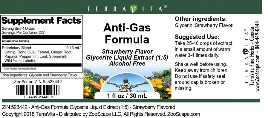 Anti-Gas Formula Glycerite Liquid Extract (1:5)