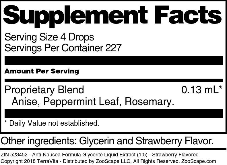 Anti-Nausea Formula Glycerite Liquid Extract (1:5)