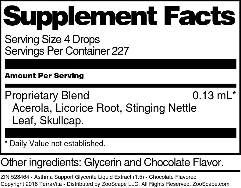 Asthma Support Glycerite Liquid Extract (1:5)