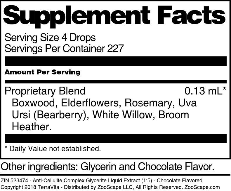 Anti-Cellulite Complex Glycerite Liquid Extract (1:5)