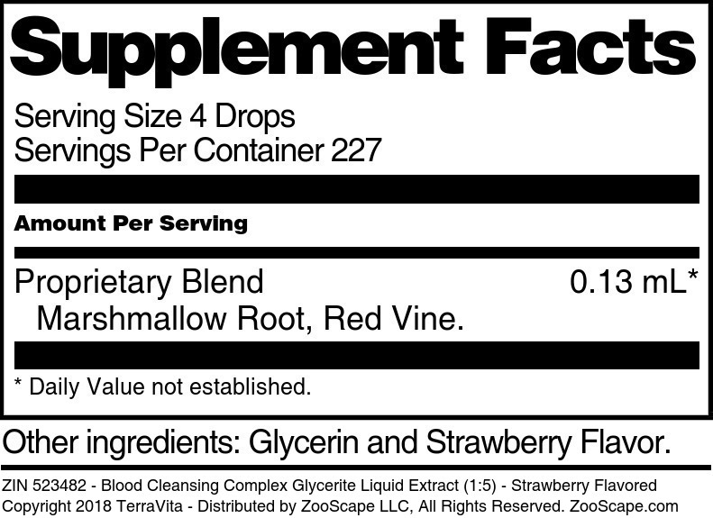 Blood Cleansing Complex Glycerite Liquid Extract (1:5)