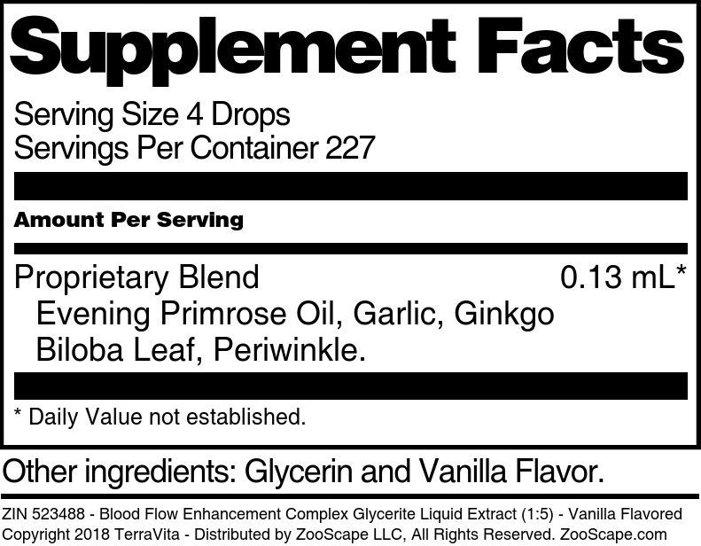 Blood Flow Enhancement Complex Glycerite Liquid Extract (1:5)